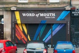 Word of Mouth Facade - Leithlate Shutter Project